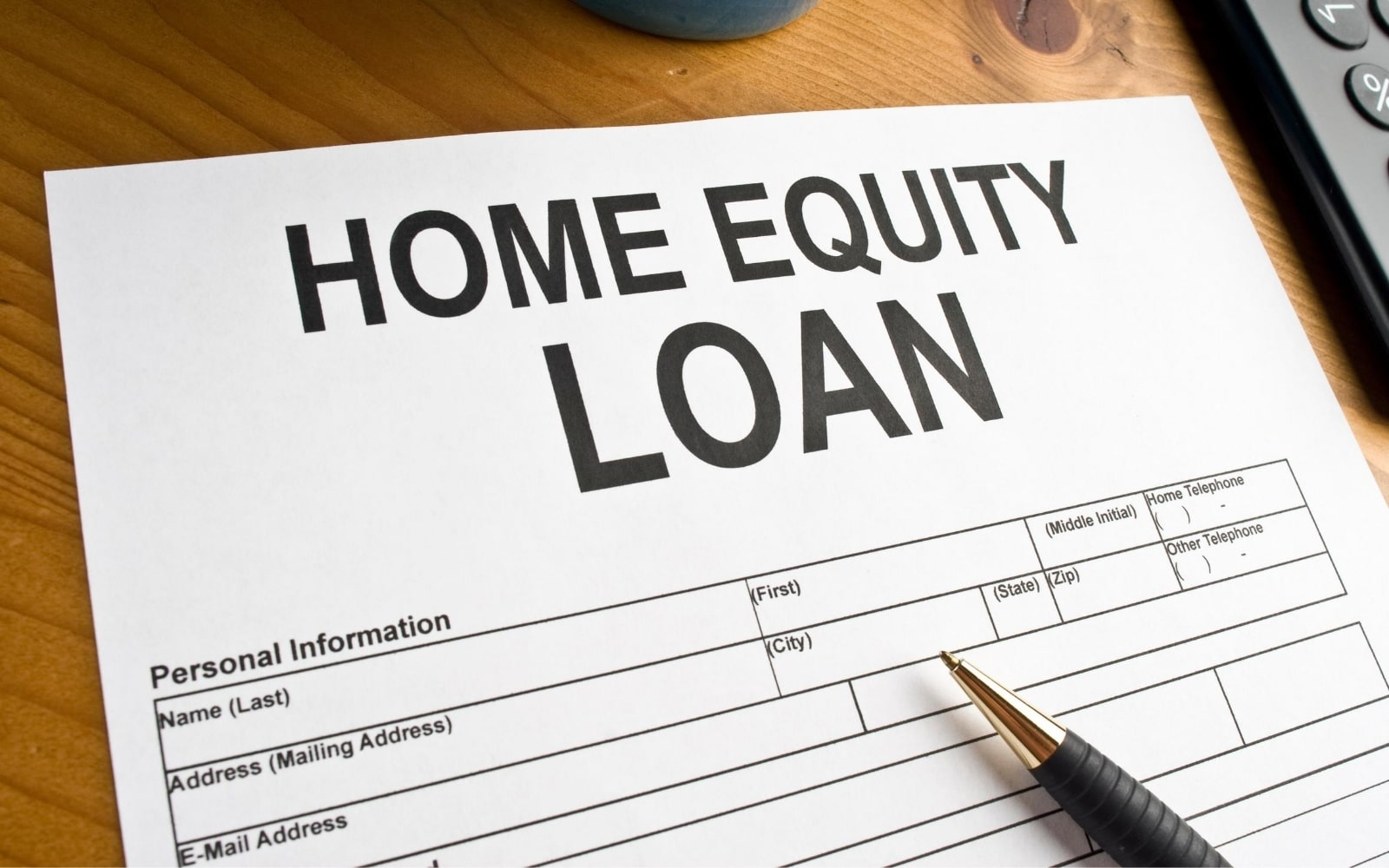 home equity loan form